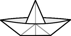 Paper boat clip art. Boats clipart outline