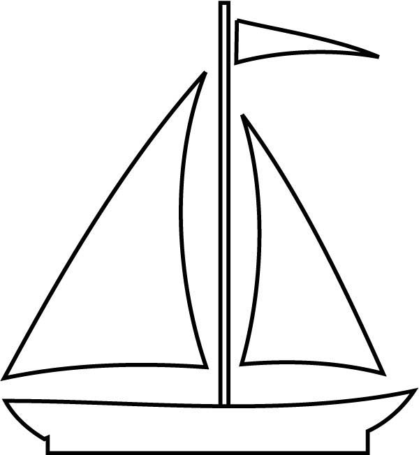 Boat black and white. Boats clipart outline