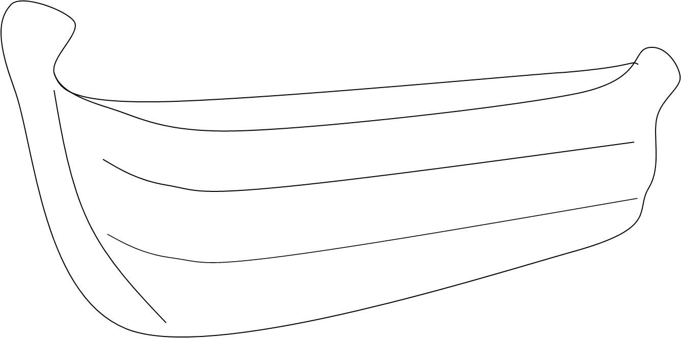 Boats clipart outline. Of a boat kids
