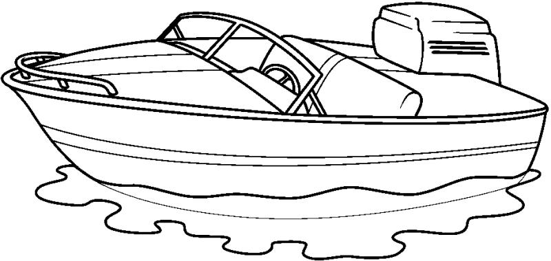 Speed boat silhouette at. Boats clipart outline