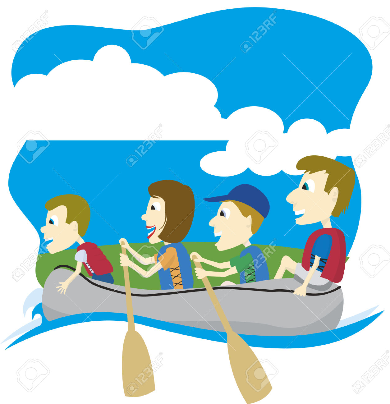 Boats clipart row boat. Family boating free collection