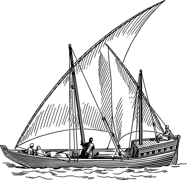Dhow sail clip art. Boats clipart sailing boat