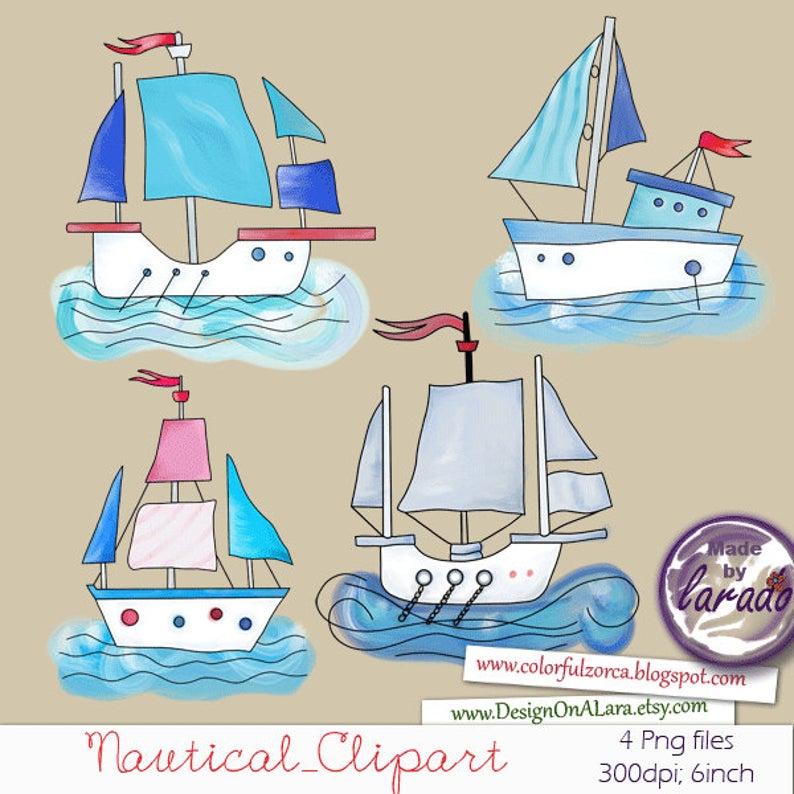 Boats clipart sailing boat. Nautical clip art hand