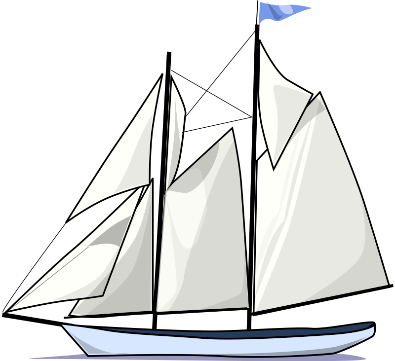 Boating clipart sailboat. Sail boat silhouette at