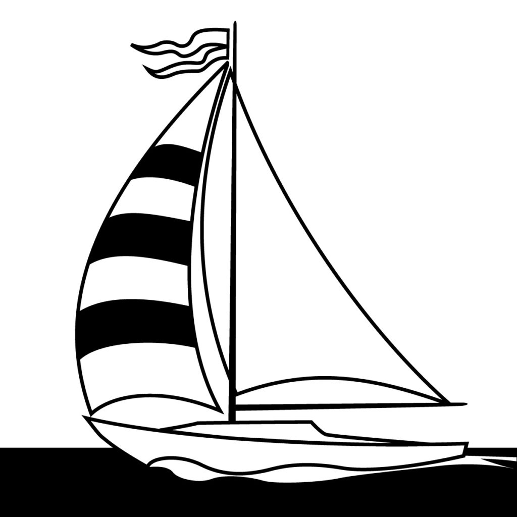 Collection of black white. Boats clipart schooner