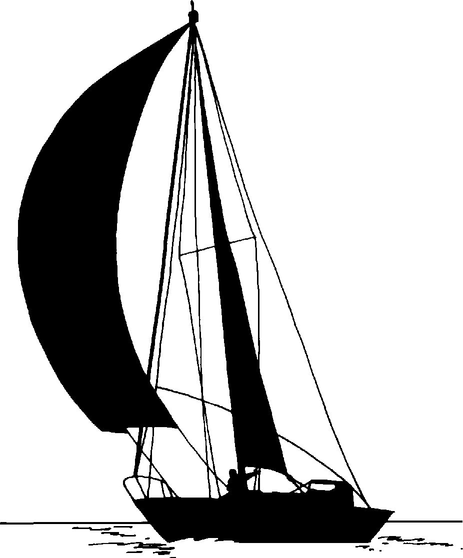 Boats clipart schooner. Sail boat sihouettes image