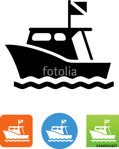 Dive boat icon illustration. Boats clipart scuba