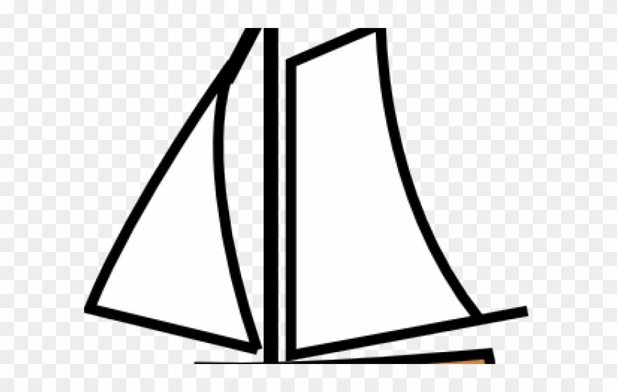 Fishing boat sail cartoon. Boats clipart simple