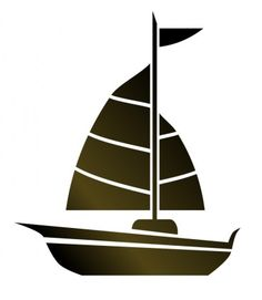 Boats clipart simple. Vector cartoon sailboat icon