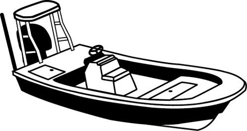 Boat clipart skiff. Carver covers for center