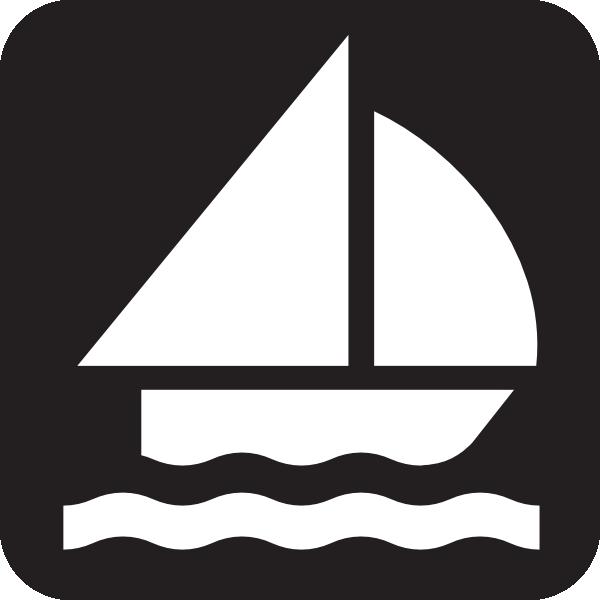 Boat sailing clip art. Boats clipart symbol