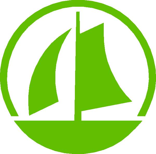 Boats clipart symbol. Green sail boat clip