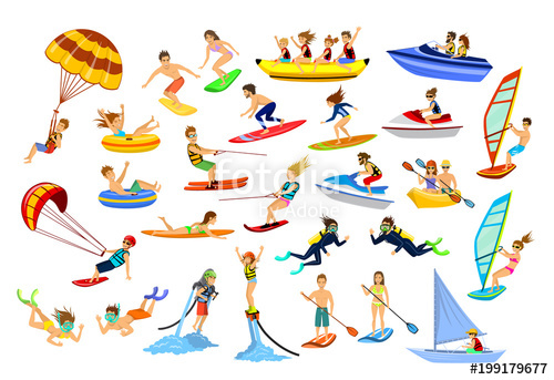 Boats clipart tubing. Summer water beach sports