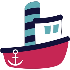 Boats clipart tugboat. Silhouette design store view