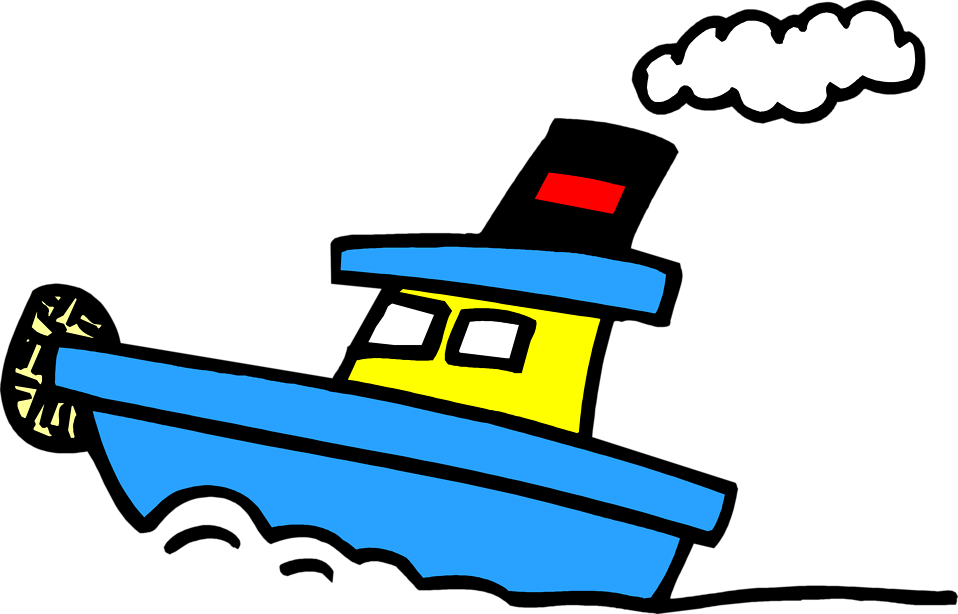 Boats clipart tugboat. Free stock photo illustration