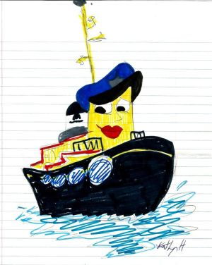 Theodore and the new. Boats clipart tugboat