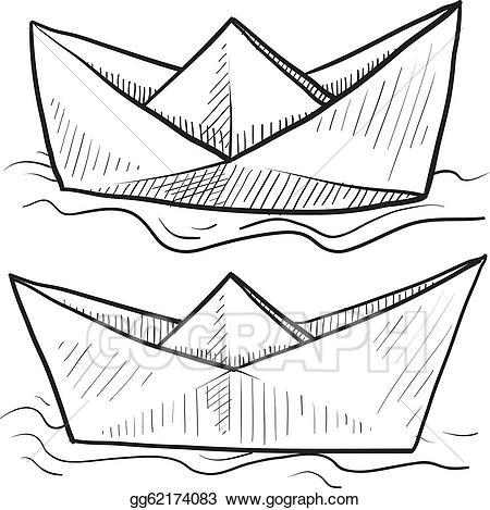 Boats clipart vector. Stock paper sketch clip
