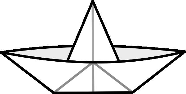 Paper boat clip art. Boats clipart vector
