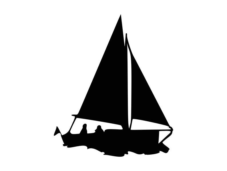 Sail boat svg dxf. Boats clipart vector