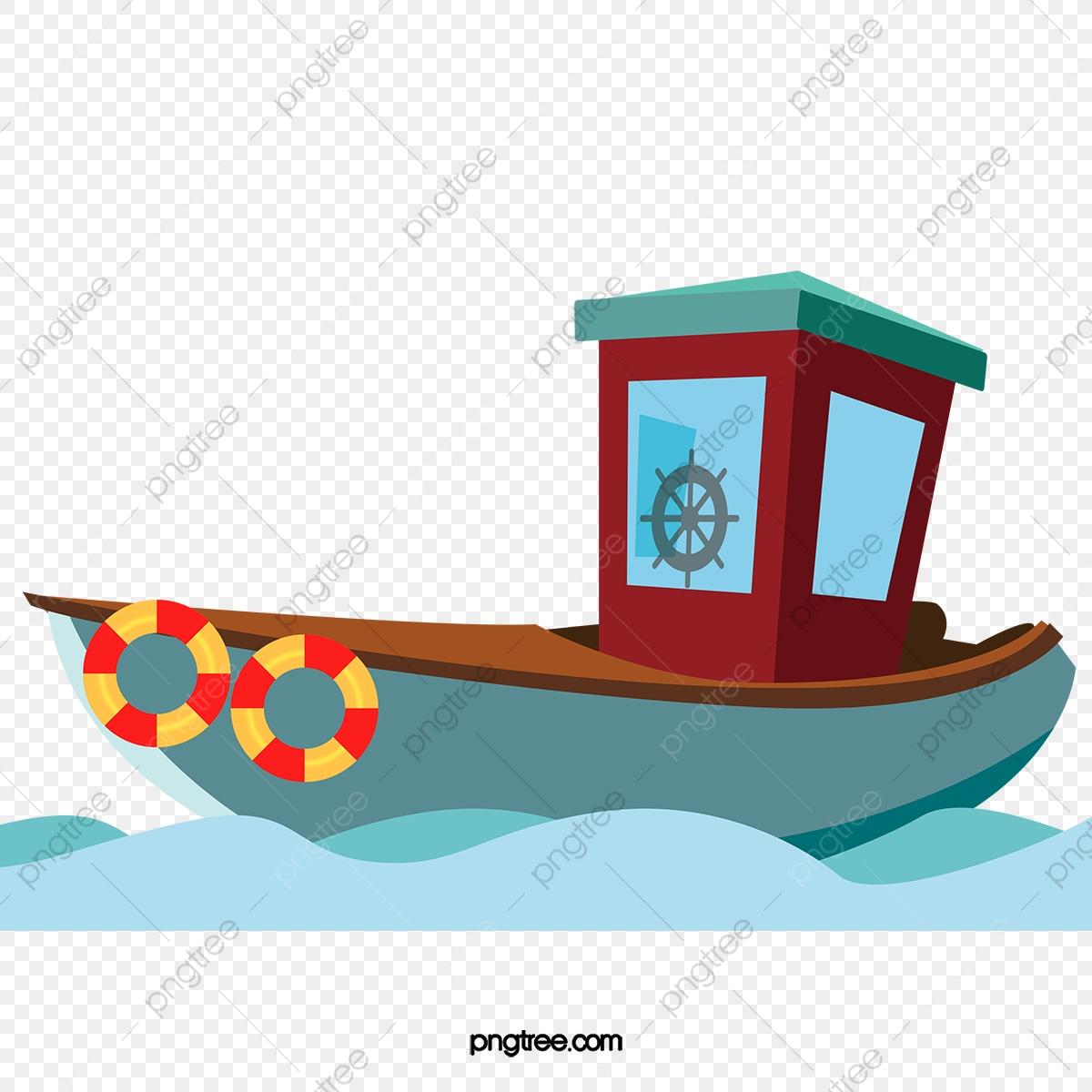 Boats clipart vector. Fisherman fishing boat material