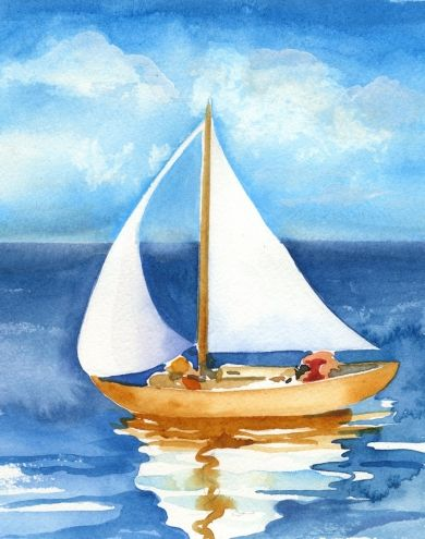 Boats clipart watercolor.  best images on