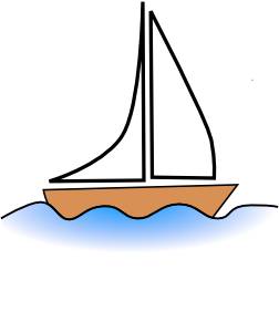 Boats clipart. On water