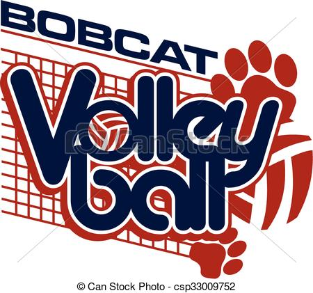 Volleyball pencil and in. Bobcat clipart artwork