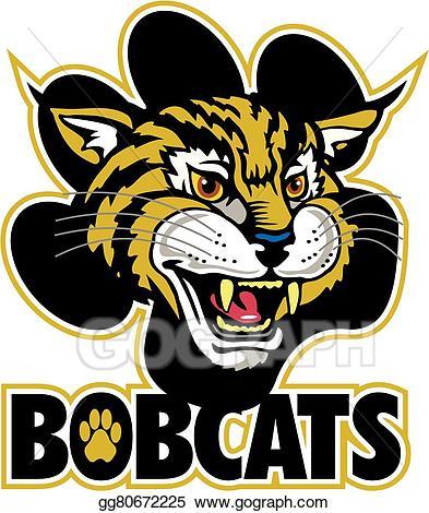 Bobcat clipart bob cat. Vector art bobcats eps