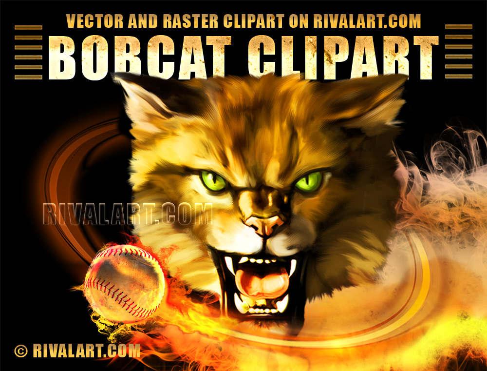 On rivalart com for. Bobcat clipart bob cat