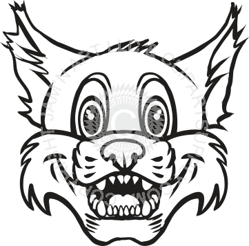 Excited panda free images. Bobcat clipart bobcat head