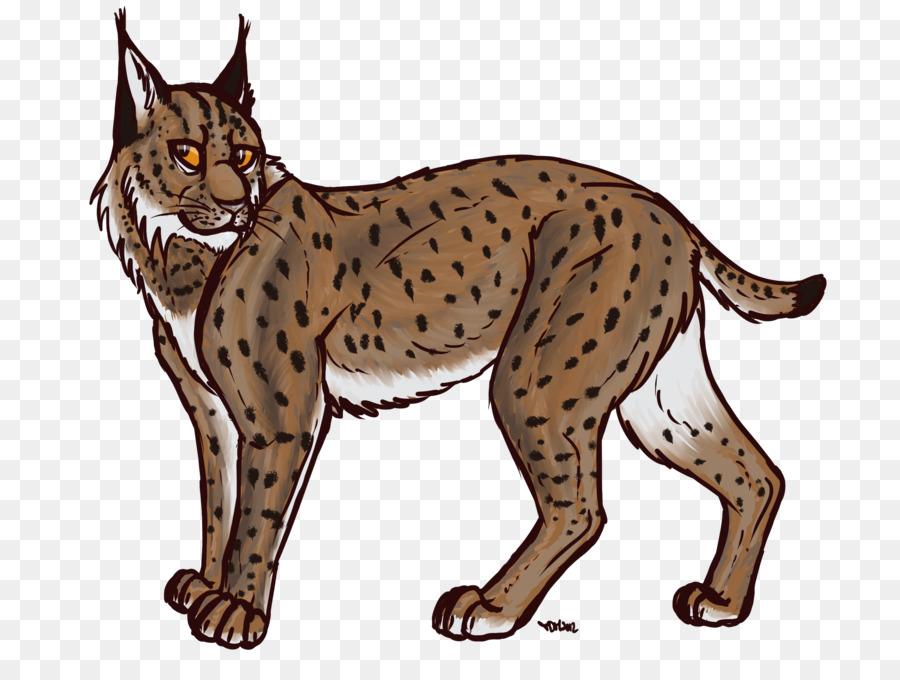 Bobcat clipart canada lynx. Eurasian drawing clip art