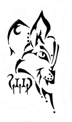 Bobcat clipart caracal. Graphic silhouettes of a