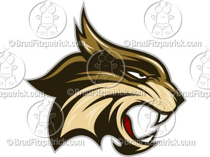 Bobcat clipart cartoon. Mascot graphics in