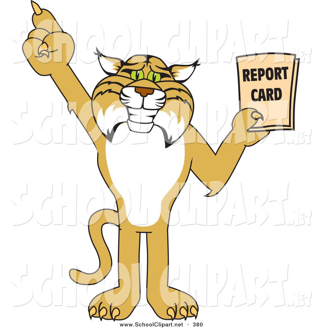 Bobcat clipart character. Clip art of a