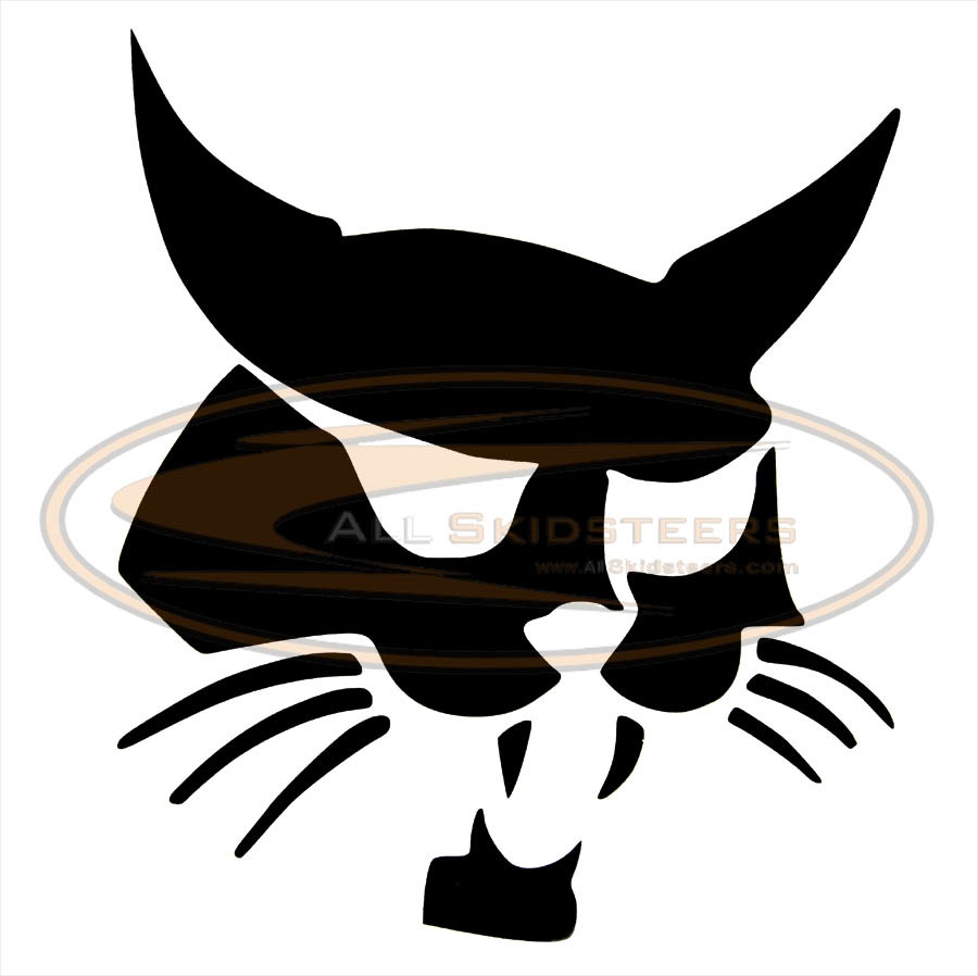 Right arm decal sticker. Bobcat clipart character