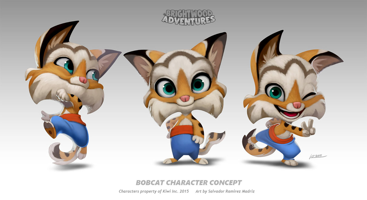 Bobcat clipart character. By reevolver on deviantart