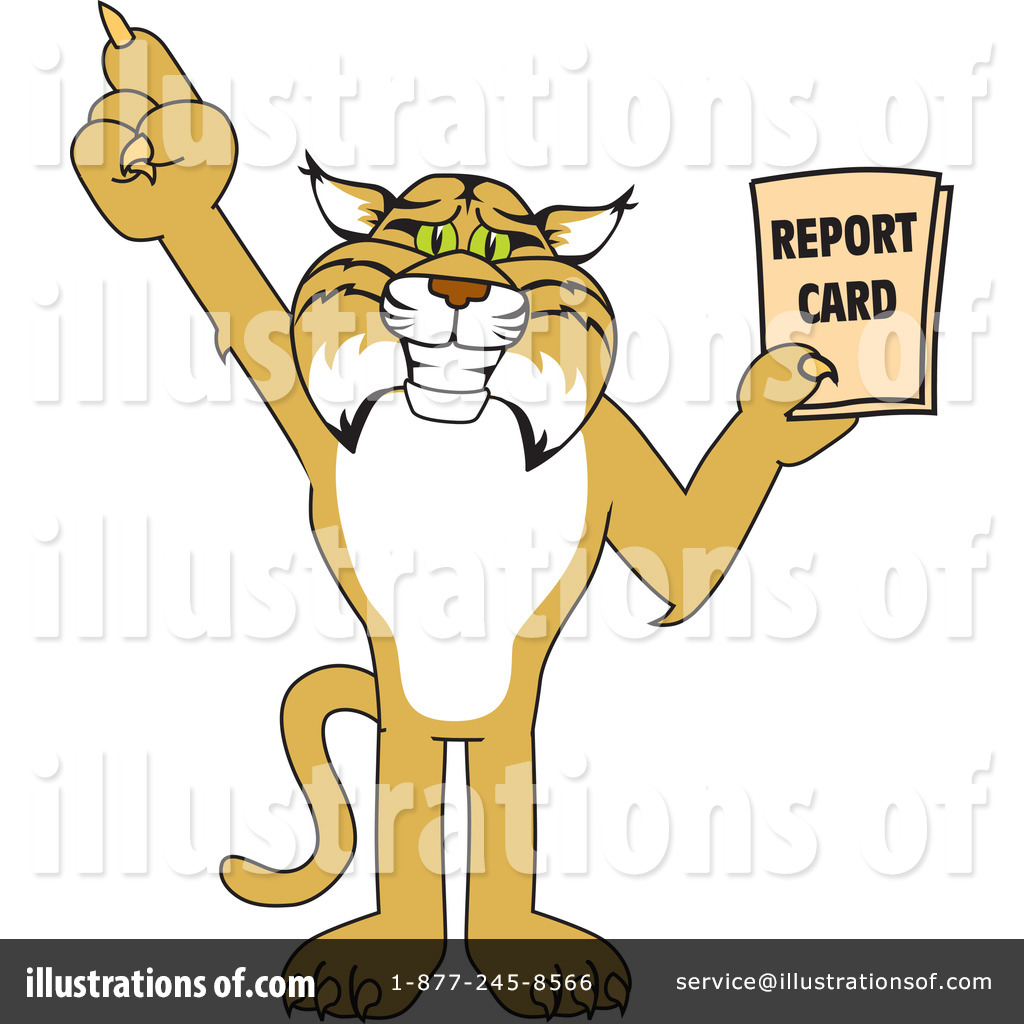 Bobcat clipart character. Illustration by toons biz