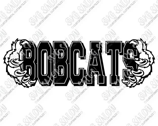 Bobcat clipart claw. Bobcats frame school team
