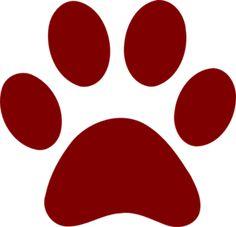 Bobcat clipart claw. Paw print clip art