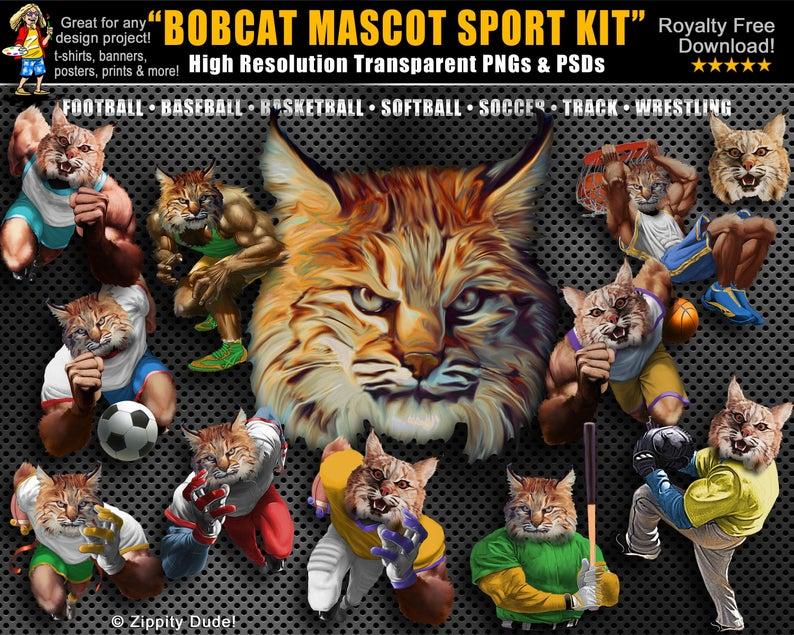 Bobcat clipart clip art. Head png design download