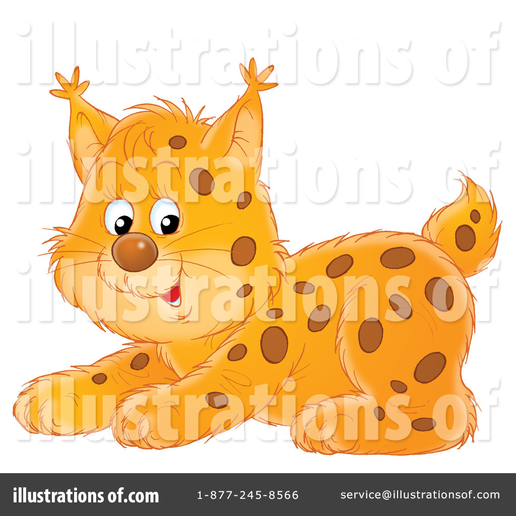 Illustration by alex bannykh. Bobcat clipart clip art