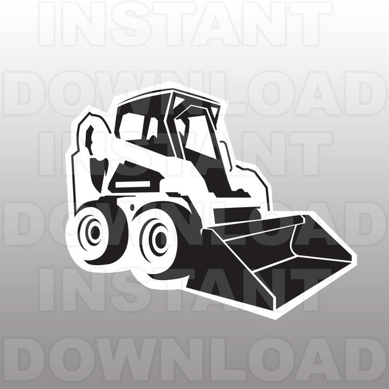 Bobcat clipart construction. Bulldozer svg file cutting