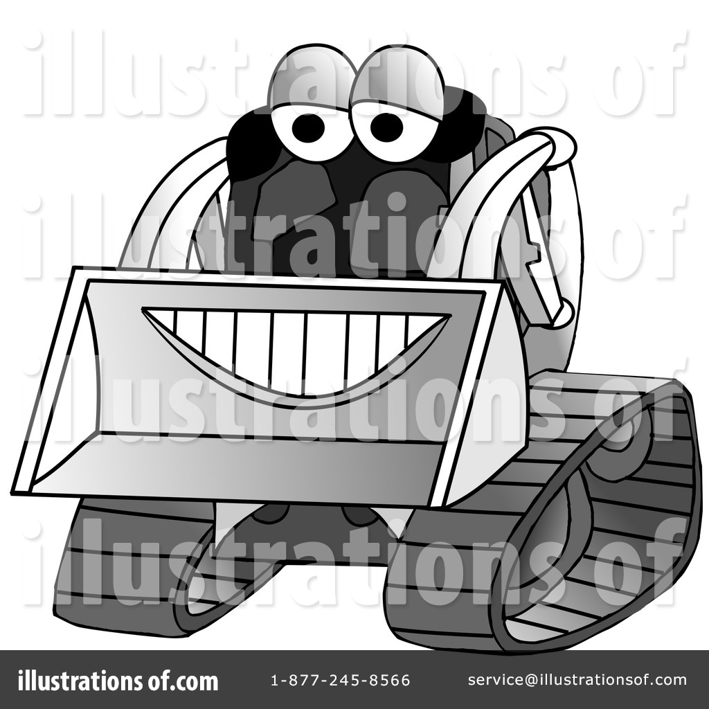 Skid loader illustration by. Bobcat clipart construction