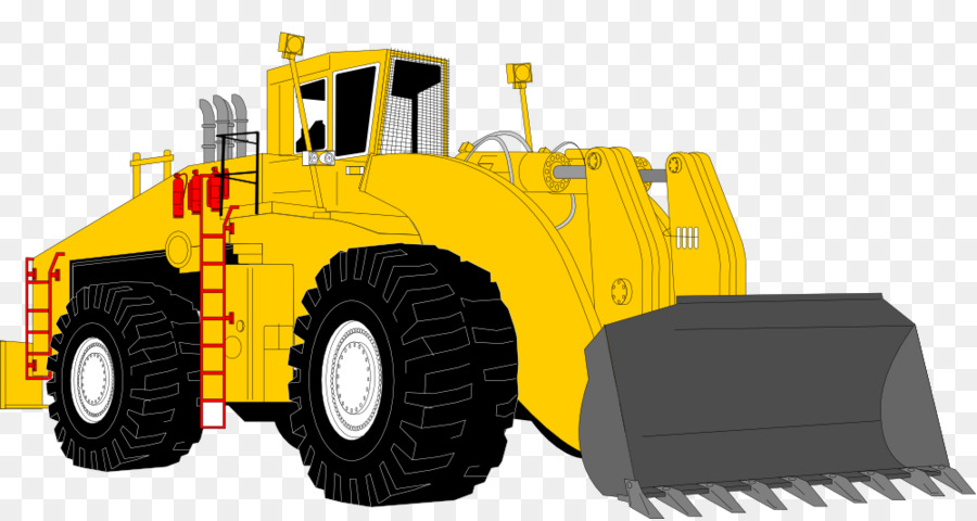 Architectural engineering excavator loader. Bobcat clipart construction