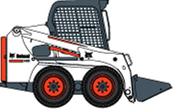 Bobcat clipart construction. Skid steer loader s