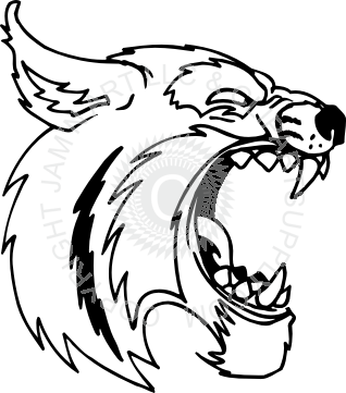 Roaring head . Bobcat clipart cool