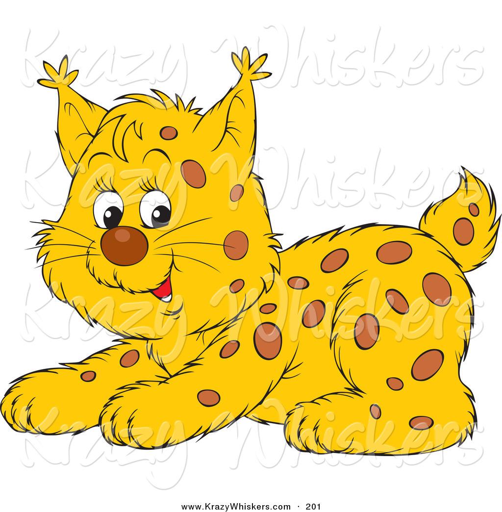 Bobcat clipart cute. Critter of a playful
