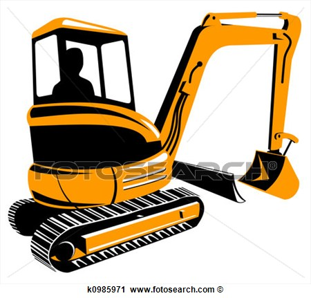 Bobcat clipart digger.  collection of mini