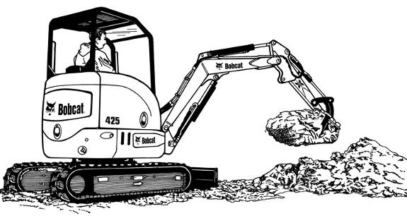 collection of mini. Bobcat clipart digger