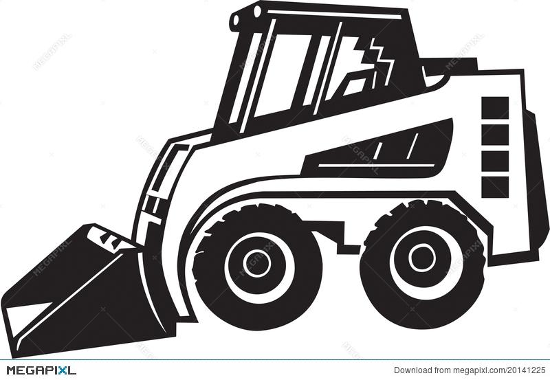 Bobcat clipart digger. Front loader illustration megapixl